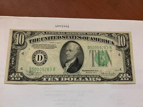 United States Hamilton circulated banknote 1934 C #11