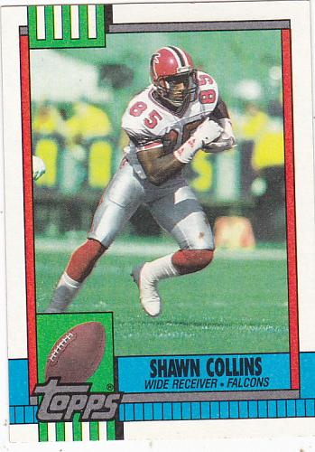 Shawn Collins #467 - Falcons 1990 Topps Football Trading Card