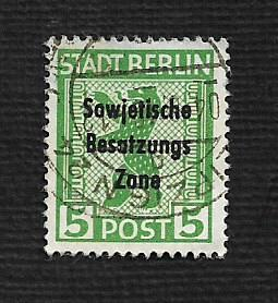 Germany Used Scott #10N22 Catalog Value $.80