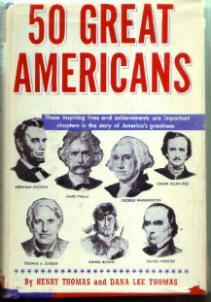 50 GREAT AMERICANS :: 1948 HB w/ DJ :: FREE Shipping