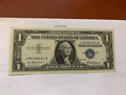 United States Washington uncirc. blue banknote 1957 B #5