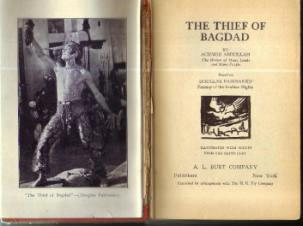 THE THIEF OF BAGDAD :: 1924 HB based on FAIRBANKS' Film :: FREE Shipping