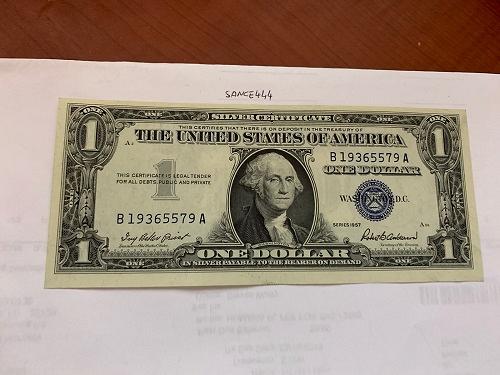 United States Washington uncirc. blue banknote 1957 #7