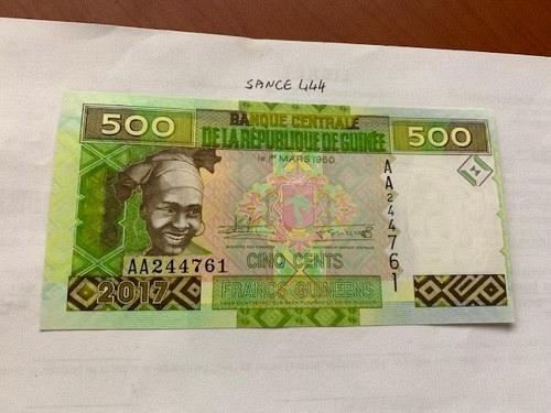 Guinea 500 francs uncirc. banknote 1960