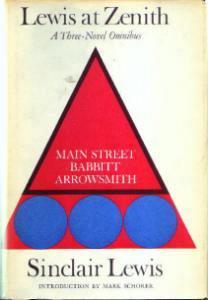 Sinclair Lewis Three-Novel Omnibus 1961 HB w/ DJ :: FREE Shipping