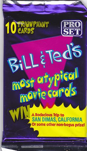 Bill and Ted's 1991 ProSet Trading Card Pack Factory Sealed