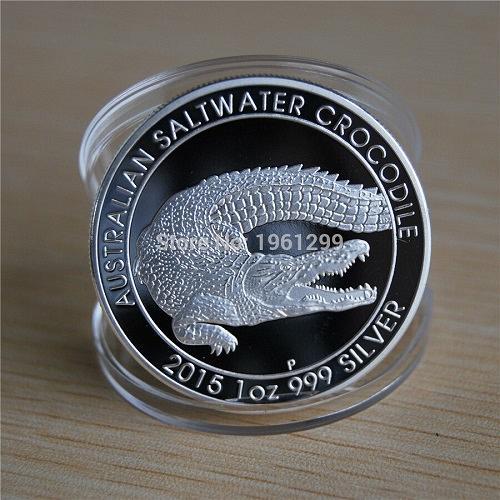 Australia Crocodile souvenir uncirc. coin 2015