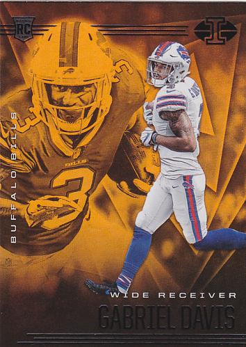 Gabriel Davis #43 - Bills 2020 Orange Panini illusions Rookie Football Trading Card