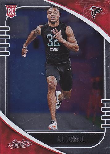 AJ Terrell #102 - Falcons 2020 Panini Rookie Foil Football Trading Card