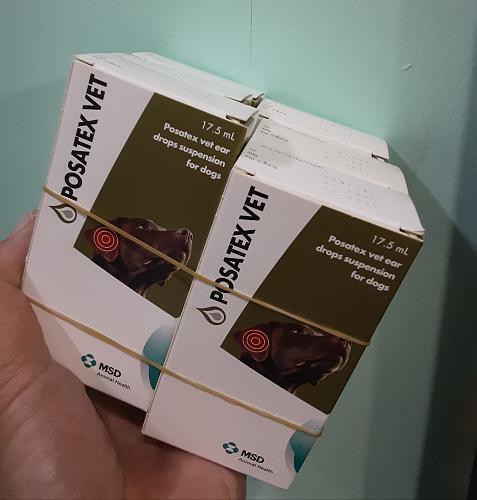 6X Posatex Vet 17.5 ml Ear antibiotic for dog exp Feb/21