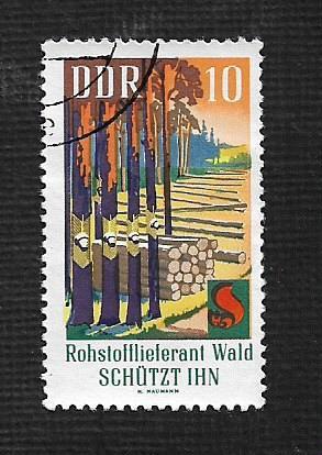 Germany DDR Used Scott #1102 Catalog Value $.25
