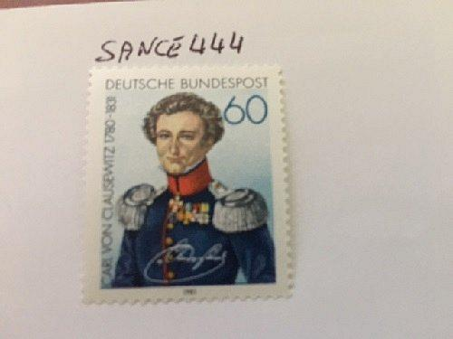Germany Carl von Clausewitz mnh 1981 stamps