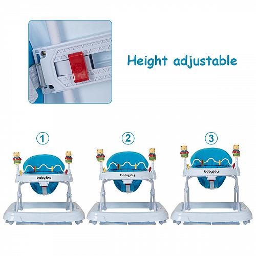 Adjustable Height Removable Folding Portable Baby Walker