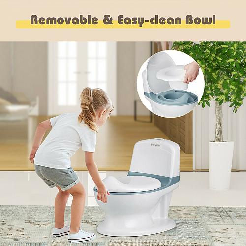 Kids Realistic Flushing Sound Lighting Potty Training Transition Toilet
