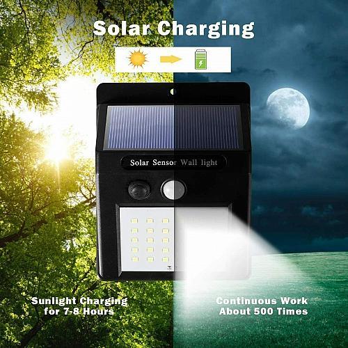 4 Pcs 30 LED Solar Lights Motion Sensor Solar Powered Wall Lights for Garden Pathway