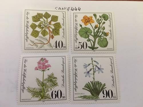 Germany Welfare Waterplants mnh 1981 stamps