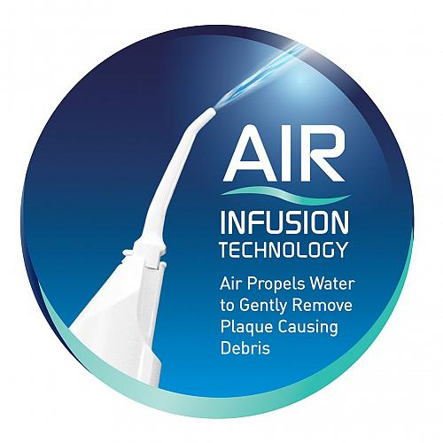 Dental Water Jet Floss Oral Irrigator with Air Infusion Technology