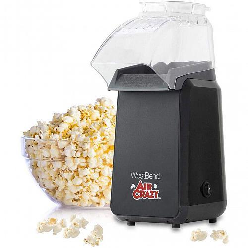 West Bend 82418BK Crazy Popper Pops Popcorn Using Hot Air, 4-Quart, Black