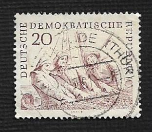 German DDR Used Scott #546 Catalog Value $.25