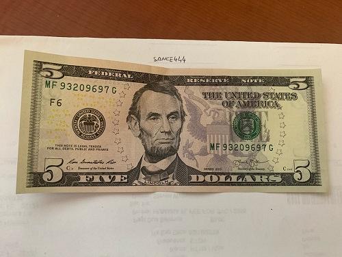 United States Lincoln $ 5.00 crispy banknote 2013 #2
