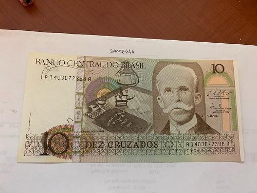 Brazil 10 cruzados uncirc. banknote 1990