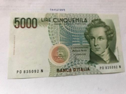 Italy Bellini uncirculated banknote 5000 lira #4