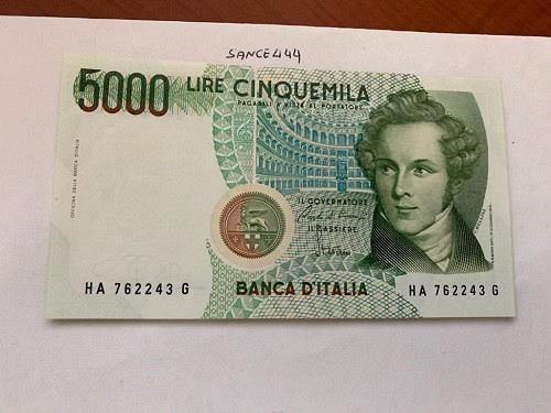 Italy Bellini uncirculated banknote 5000 lira #8