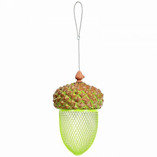 Metal Acorn Wild Bird Feeder Outdoor Hanging Food Dispenser for Garden Yard