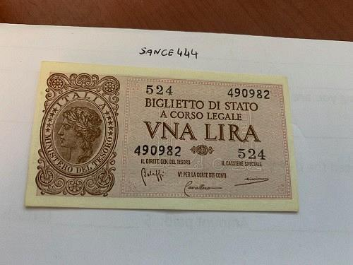 Italy 1 lira uncirculated banknote 1944 #1