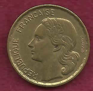 1952 France 20 Francs Coin Aluminum-Bronze Collector's Coin Rare! (w/Rooster)