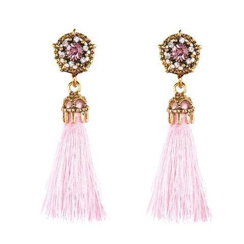 Tassel Crystal Drop Fashion Earrings