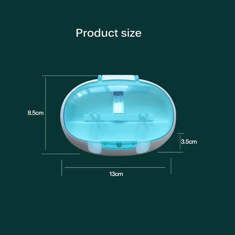 Wall-Mounted UV Light Toothbrush Sanitizer Box