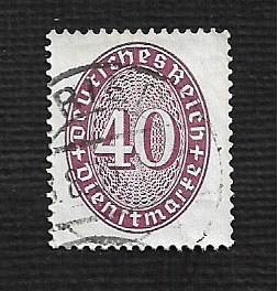 German Hinged Scott #O78 Catalog Value $.90