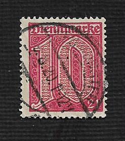 German Used #OL10 Catalog Value $1.50