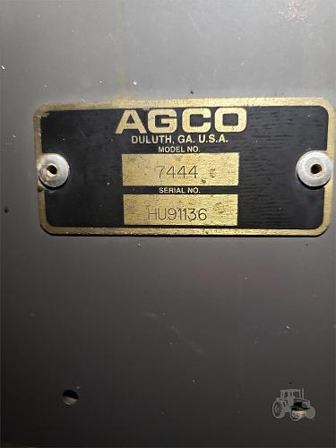2008 AGCO 7444 Square Baler