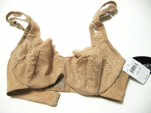 SB0019 Le Mystere NEW 765 Natural Emma Stretch Embroidered Lace Mesh Soft Cup UW Bra