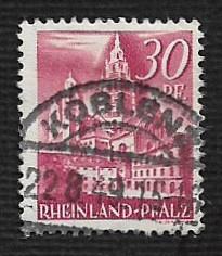 German Used Scott #6N25 Catalog Value $.35