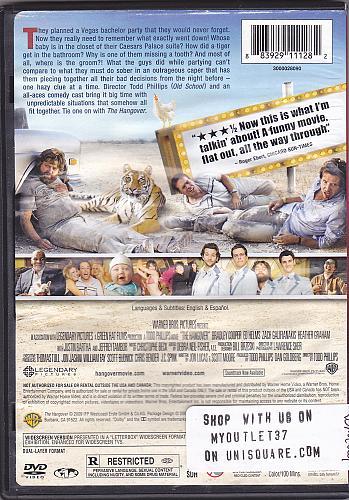 The Hangover DVD 2009 - Very Good