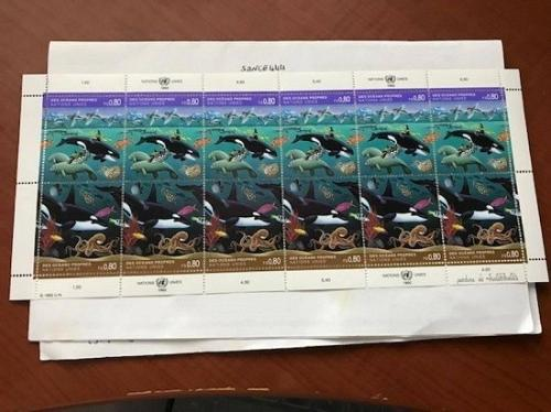United Nations Geneve Clean Oceans 1992 mnh stamps