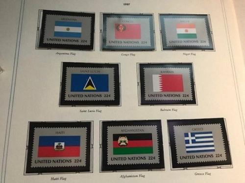 United Nations New York Flags 8v mnh 1987