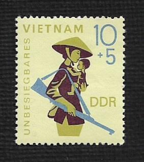German DDR Hinged Scott #B147 Catalog Value $.25