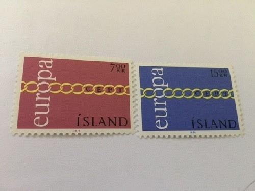 Iceland Europa 1971 mnh stamps