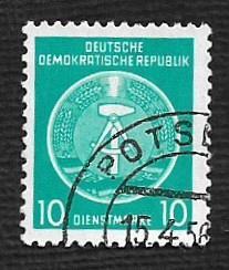 German DDR Used Scott #O4 Catalog Value $.25