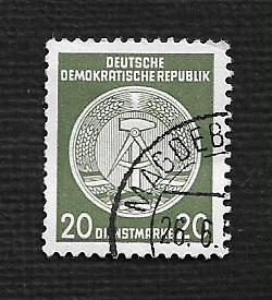 German DDR Used Scott #O22 Catalog Value $.25