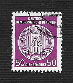 German DDR Used Scott #O26 Catalog Value $.25
