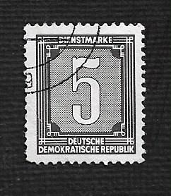 German DDR Used Scott #O28 Catalog Value $.25