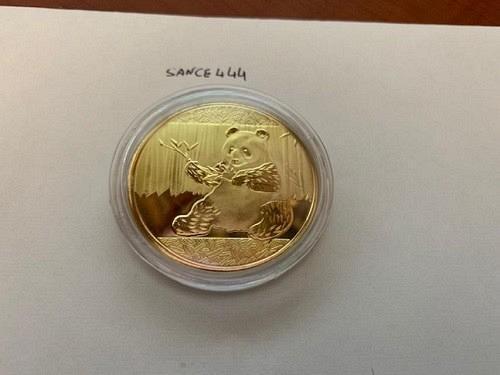 United States beautiful golden Panda souvenir coin new