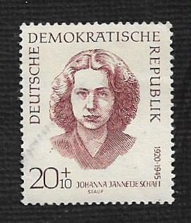 German DDR Hinged Scott #B86 Catalog Value $.25