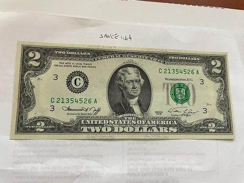 United States Jefferson $2 uncirc. banknote 1976 #21