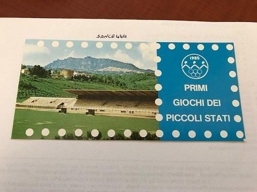 San Marino Games booklet mnh 1985 stamps